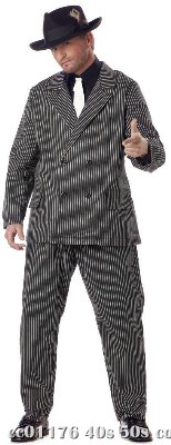 Gangster Plus Size Adult Costume