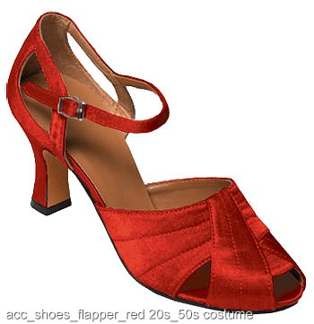 Red Flapper Shoes