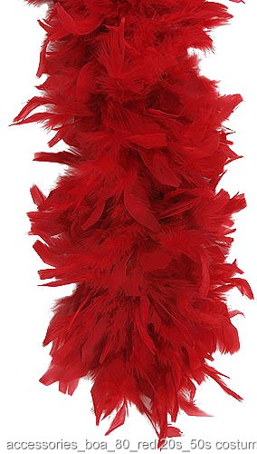 Red 80 Gram Feather Boa