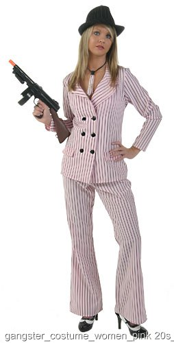 Pink Women's Gangster Costume