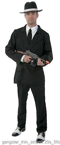 Large Deluxe Pin Stripe Gangster Suit
