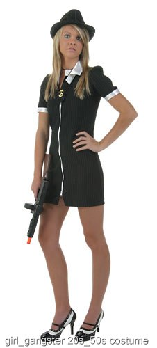 Small Girls Gangster Costume