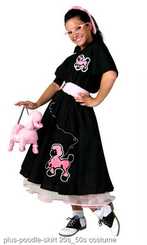 Plus Size Deluxe Poodle Skirt Costume