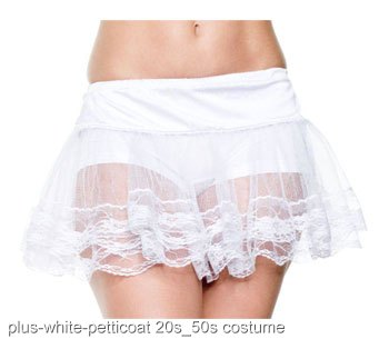 Plus Size White Petticoat