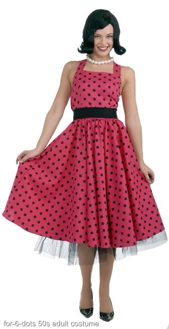Pretty in Polka Dots Adult 50s Costume