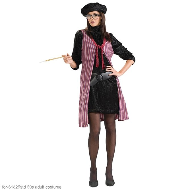 Adult Beatnik Chick Costume