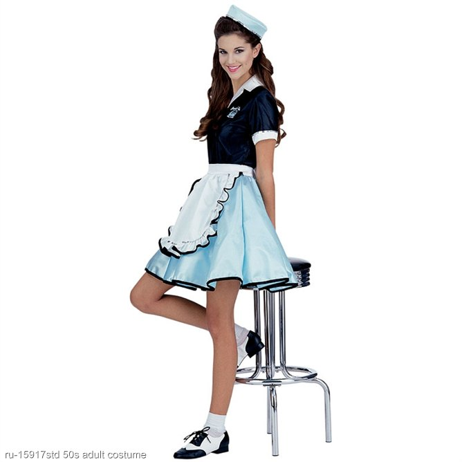 Adult Car Hop Girl 50s Costume