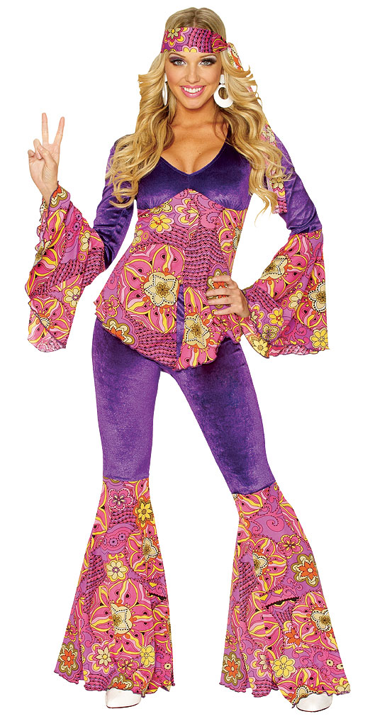Purple Power Hippie Adult Costume