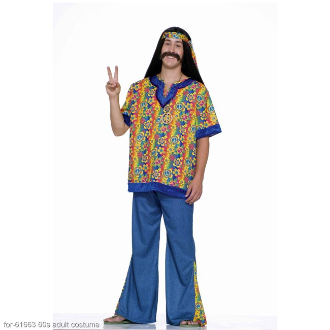 Far Out Hippie Man Adult Costume