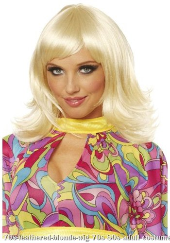 70s Feathered Blonde Wig