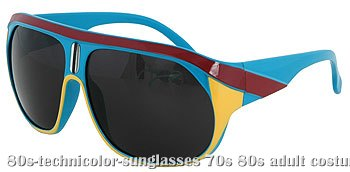 Technicolor 80s Sunglasses