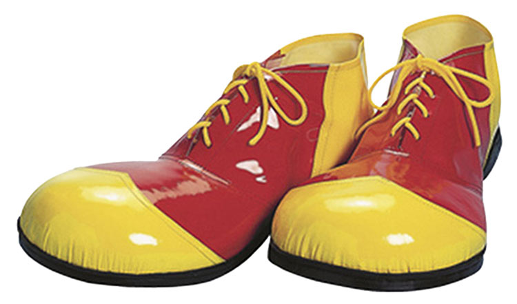 Deluxe Red And Yellow Vinyl Clown Shoes