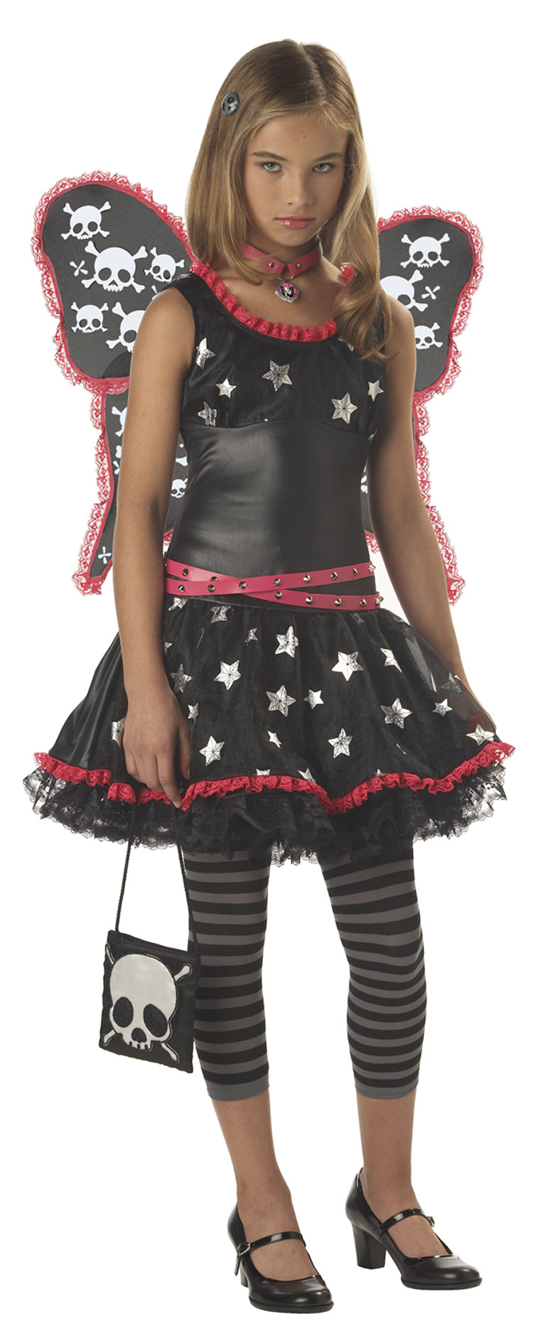Tween Girls Skulls And Stars Costume