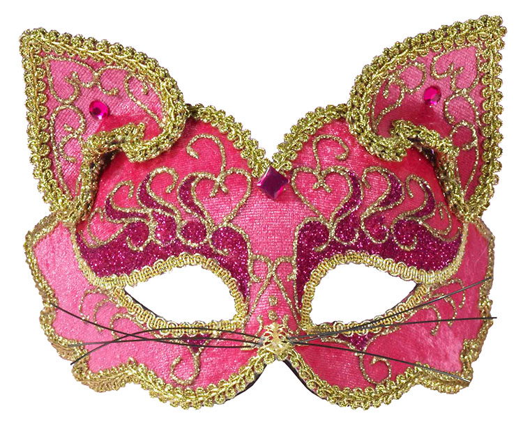 Pink Feline Fancy Mask
