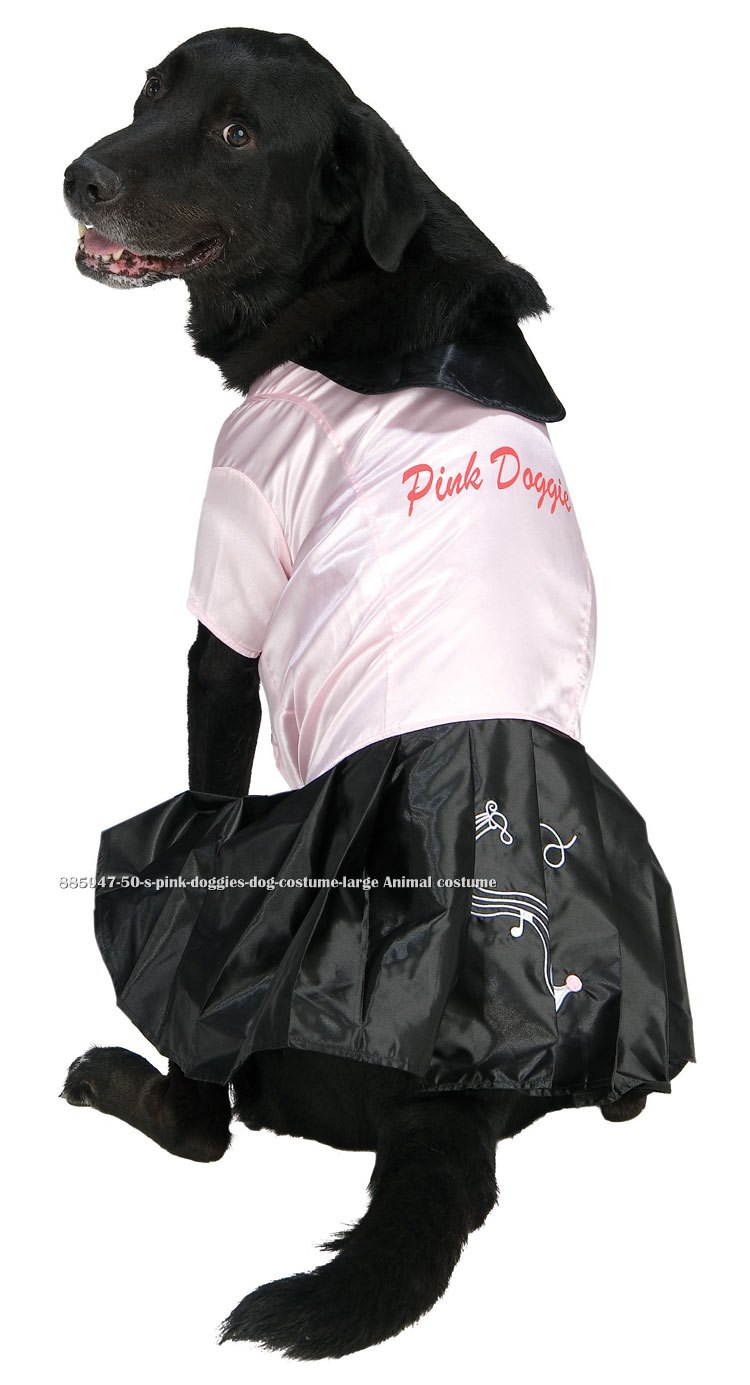 50's Pink Doggies Dog Costume