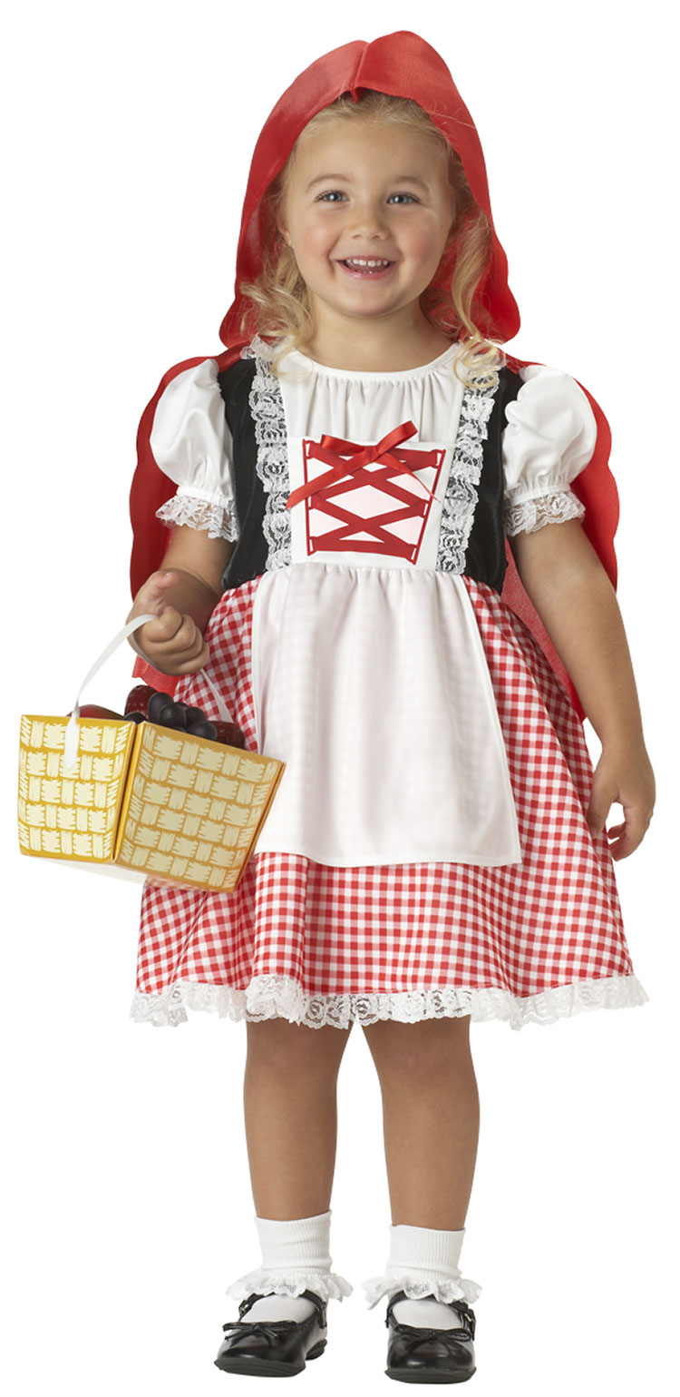 Girls and Toddler Red Riding Hood Costume