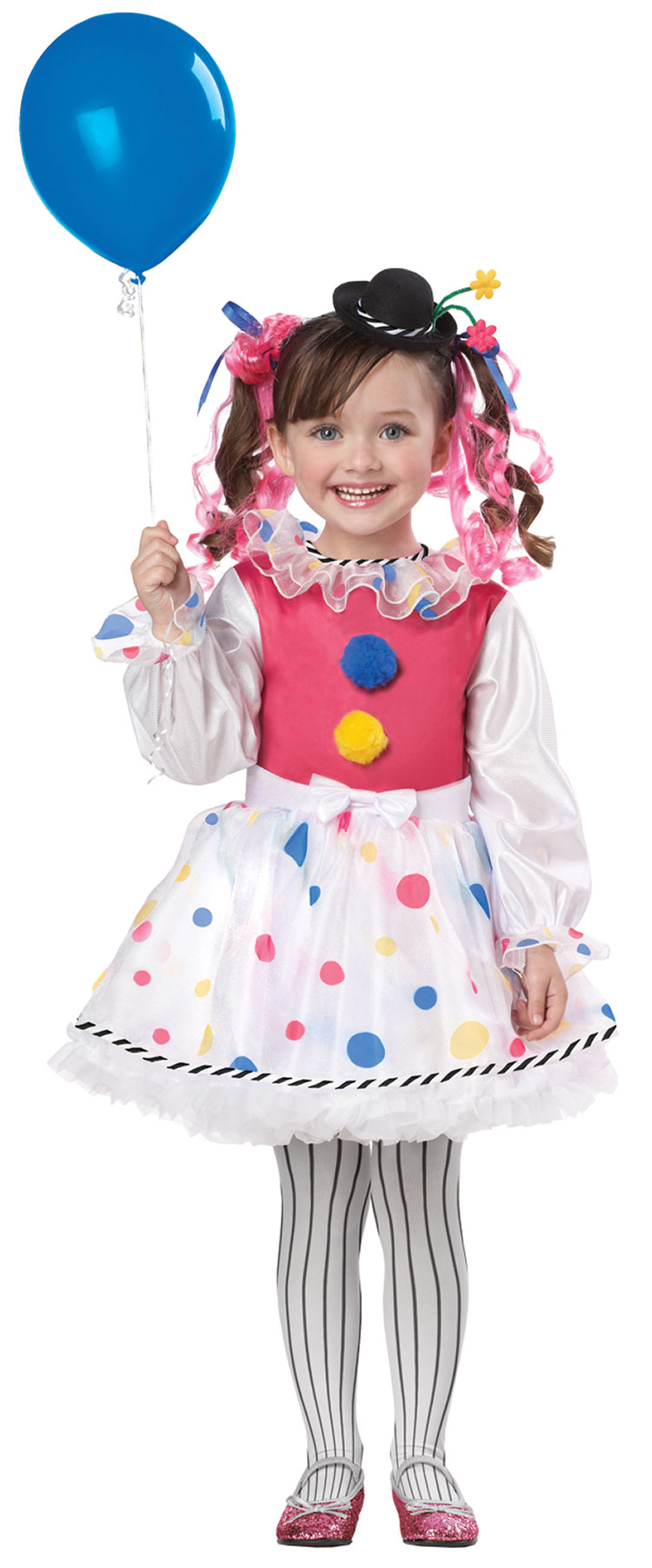 Girls and Toddler Cutesy Clown Costume