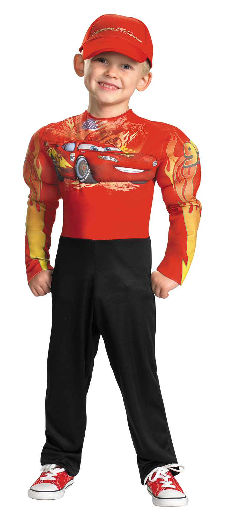Kids Classic Muscle Lightning Mcqueen Costume