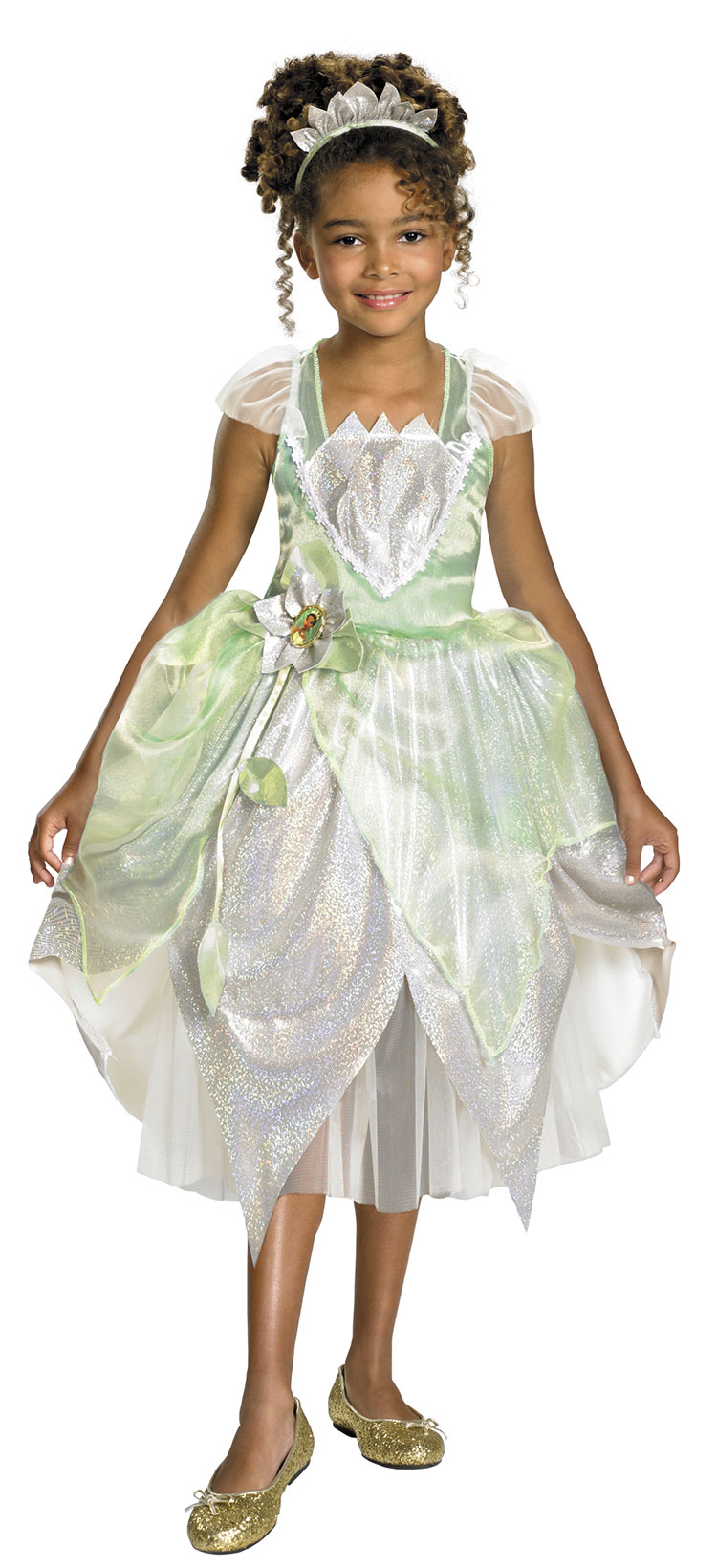 Girls Deluxe Shimmer Princess Tiana Costume