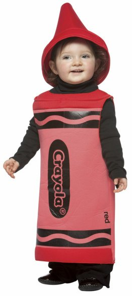 Toddler and Kids Red Crayola Crayon Costume