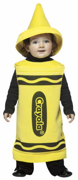 Toddler and Kids Yellow Crayola Crayon Costume