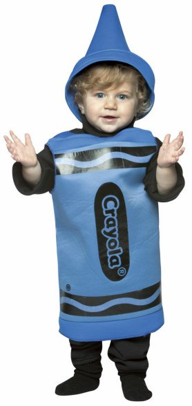 Toddler and Kids Blue Crayola Crayon Costume