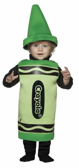 Toddler and Kids Green Crayola Crayon Costume
