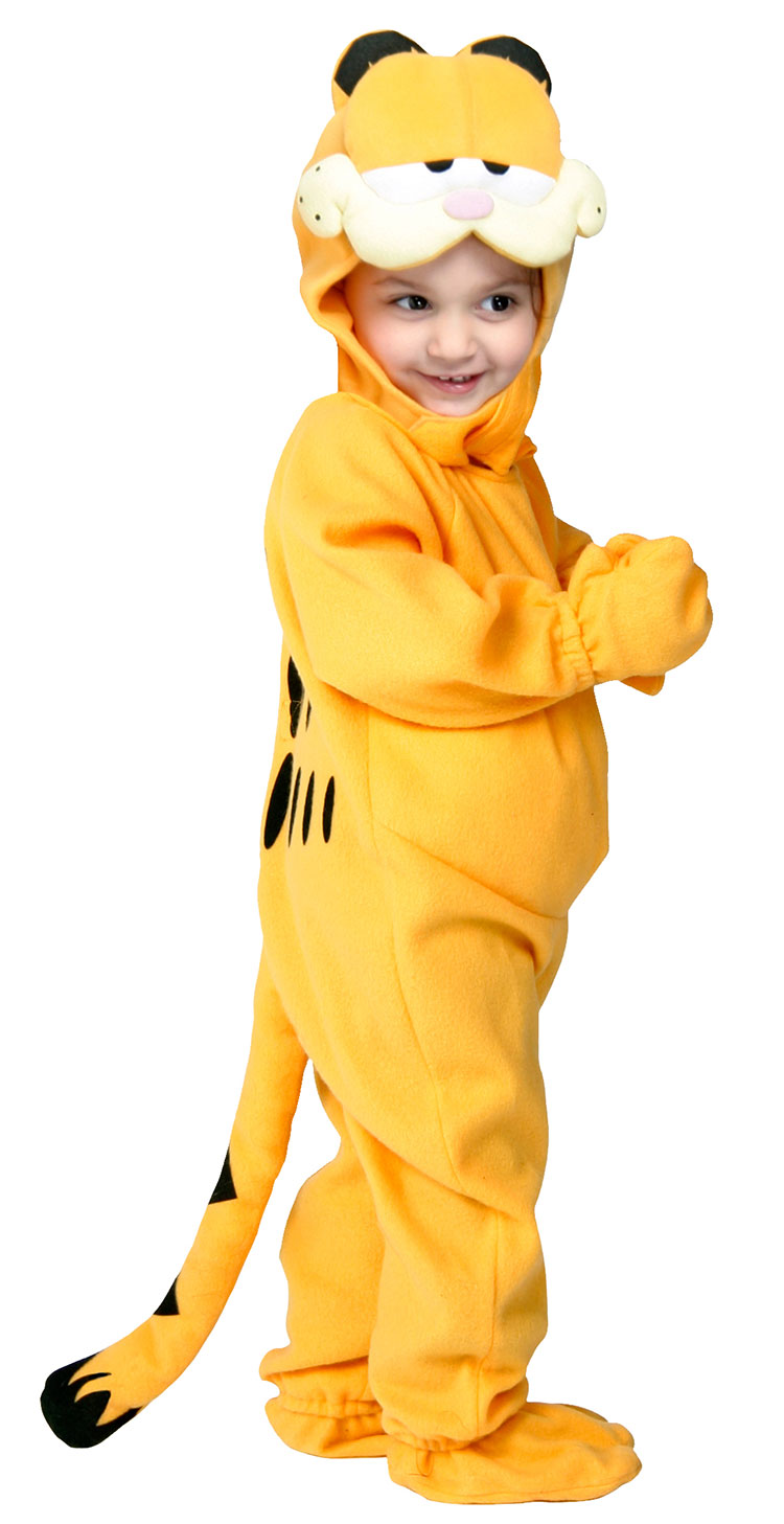 Toddler And Child Orange Garfield Costume