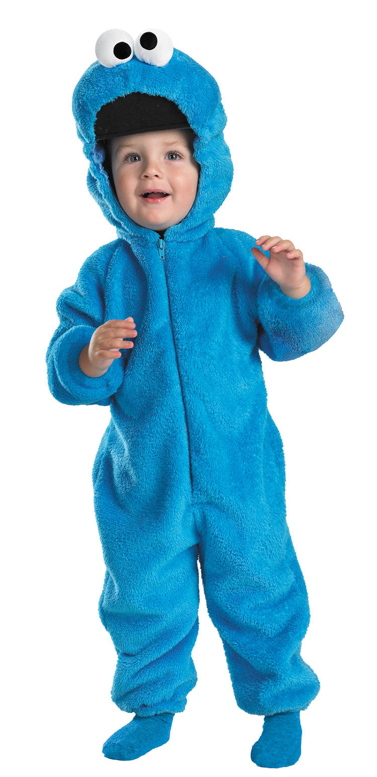 Kids and Toddler Deluxe Cookie Monster Costume