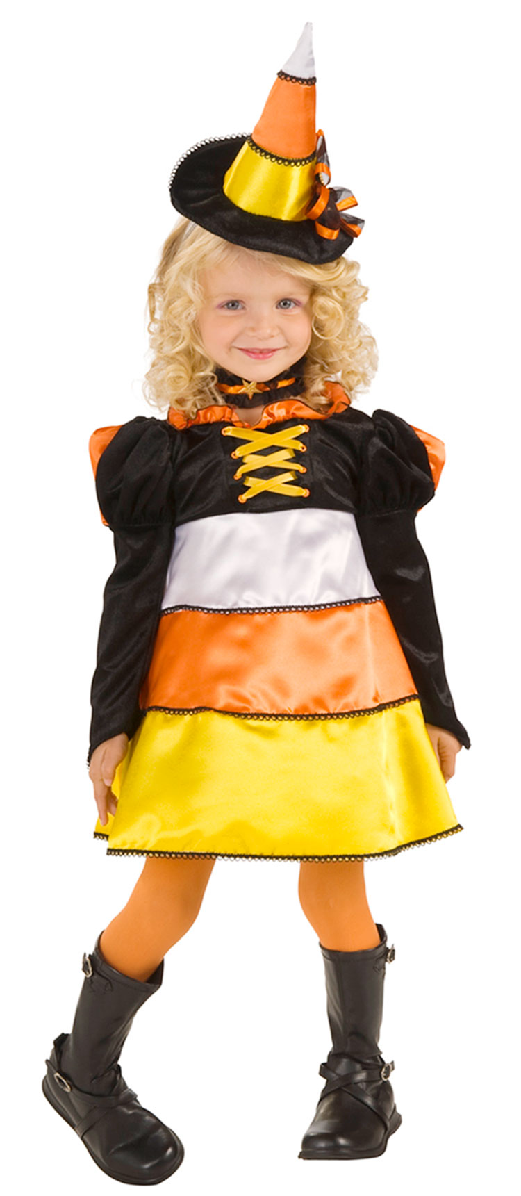 Girls and Toddler Candy Corn Witch Costume  sc 1 st  Costumes Life & Girls and Toddler Candy Corn Witch Costume : Costumes Life