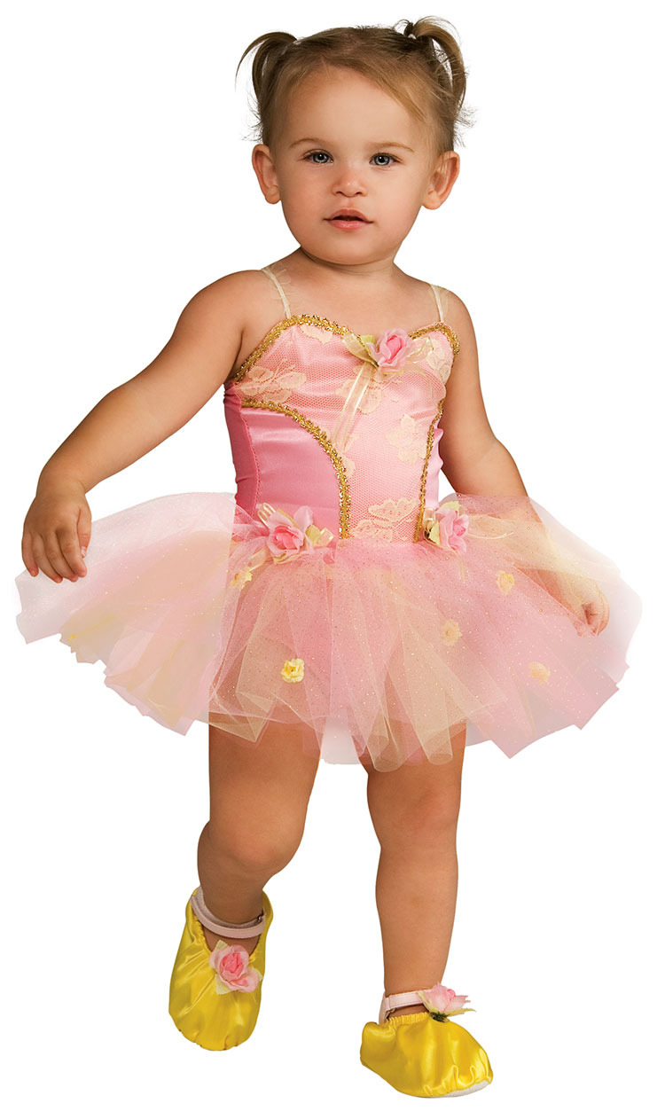 Toddler and Child Pink Rose Ballerina Costume