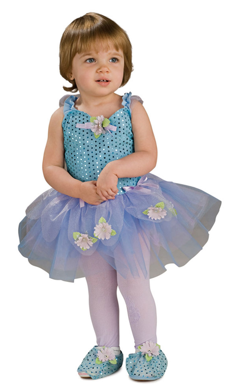 Toddler and Child Blue Daisy Ballerina Costume