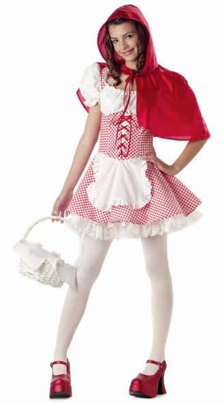 Tween and Teen Red Riding Hood Costume