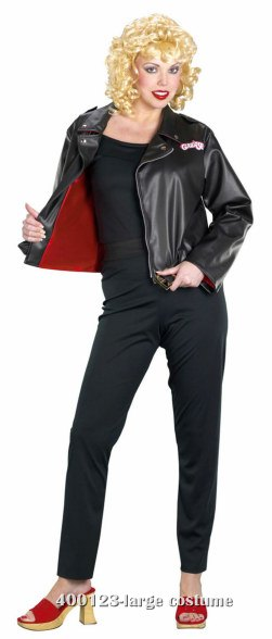 Sandy Deluxe Leather Grease Costume Jacket