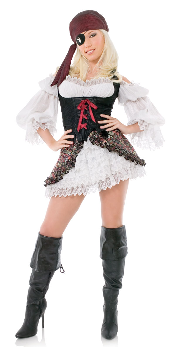 Sexy Adult Playboy Buccaneer Pirate Costume