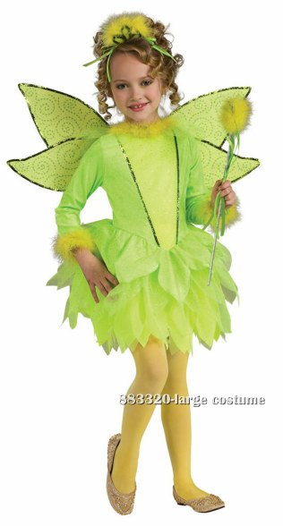 Deluxe Girls Light-Up Tinker Bell Costume