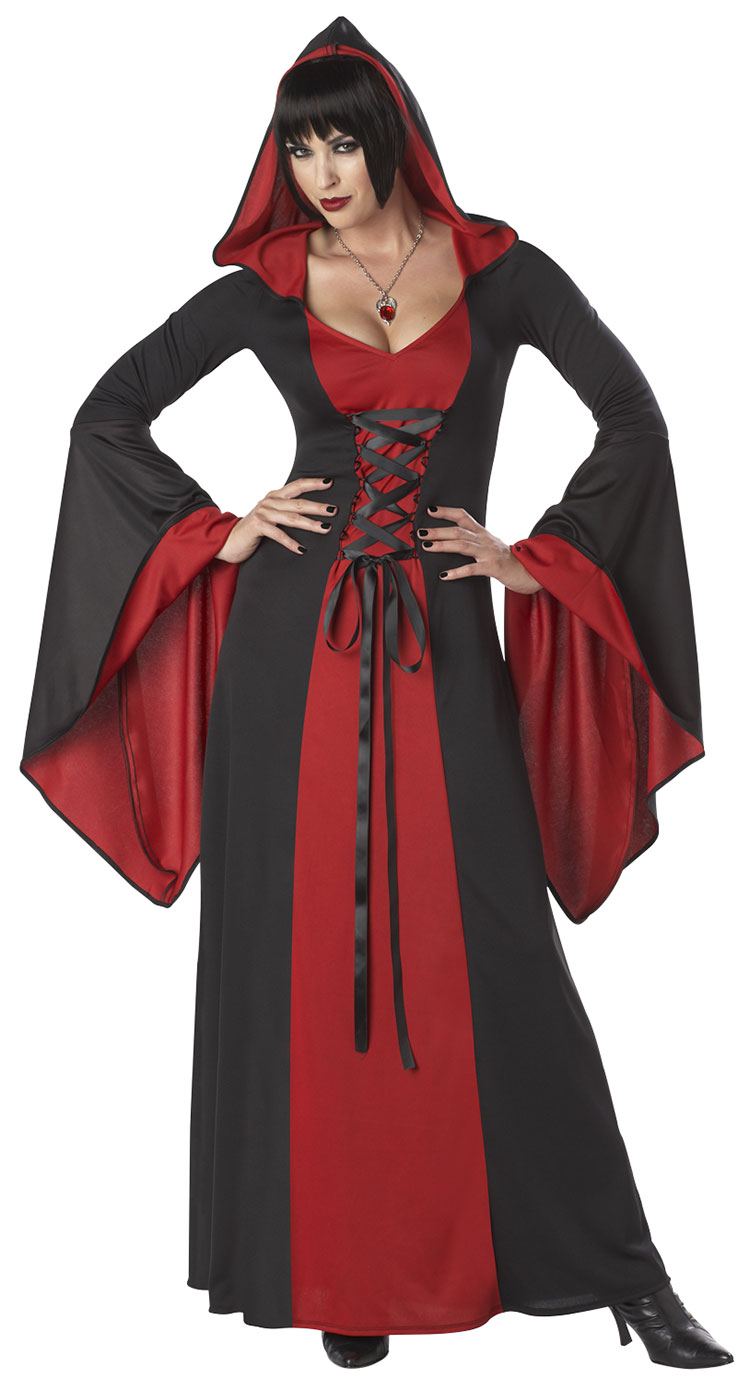 Deluxe Red Hooded Robe