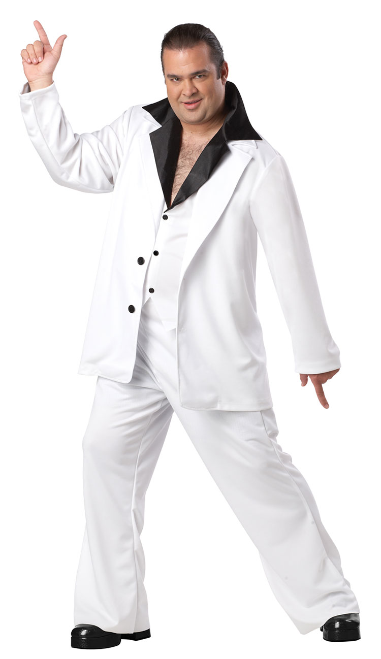 Plus Size Saturday Night Fever Costume