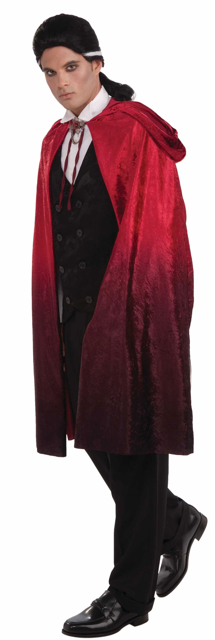 45 Red Faded Vampire Cape