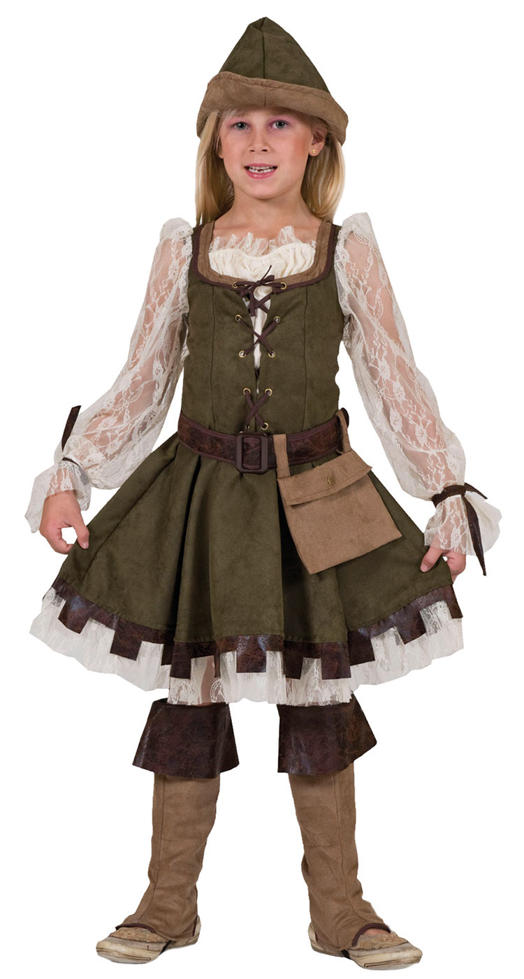 Girls Forest Lass Costume