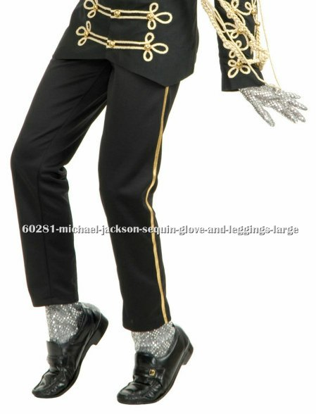 Michael Jackson Sequin Glove and Leggings