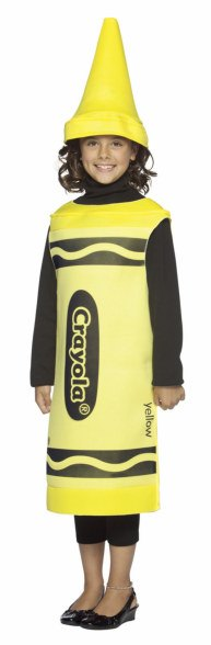 Kids Yellow Crayola Crayon Costume