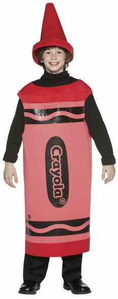 Tween Red Crayola Crayon Costume