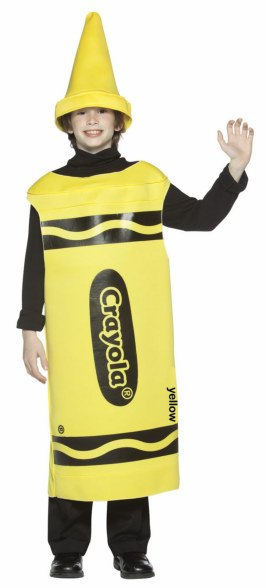 Tween Yellow Crayola Crayon Costume