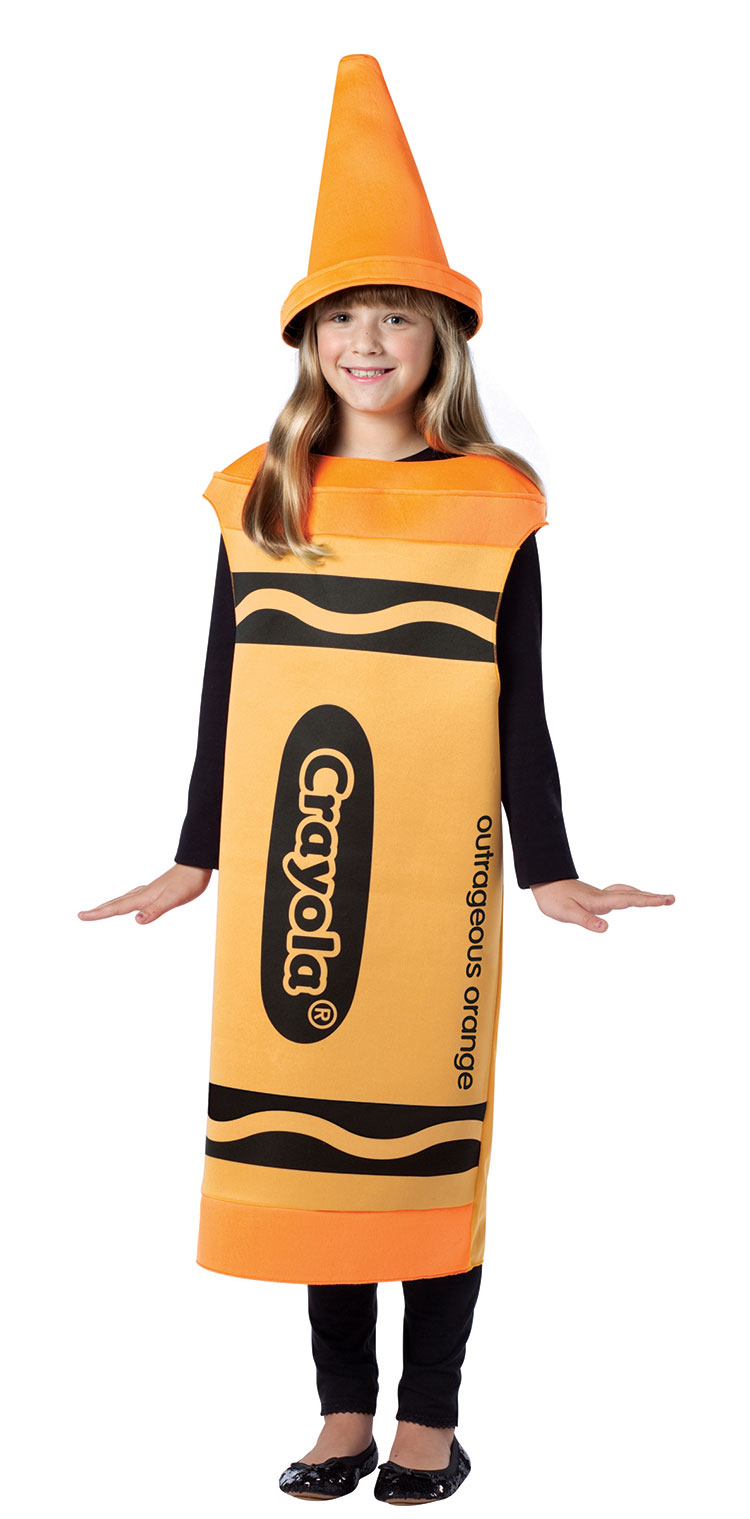 Tween Outrageous Orange Crayola Costume : Costumes Life