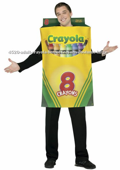 Adult Crayola Box Of Crayons Costume
