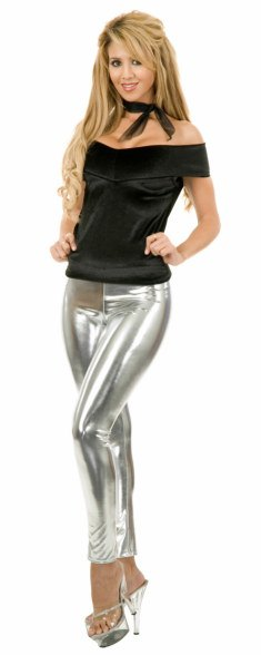 Adult Liquid Silver and Velvet Costume