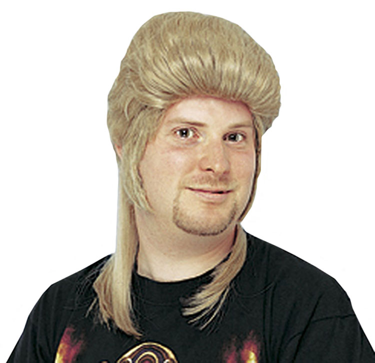 Deluxe Honey Blonde Mullet Wig
