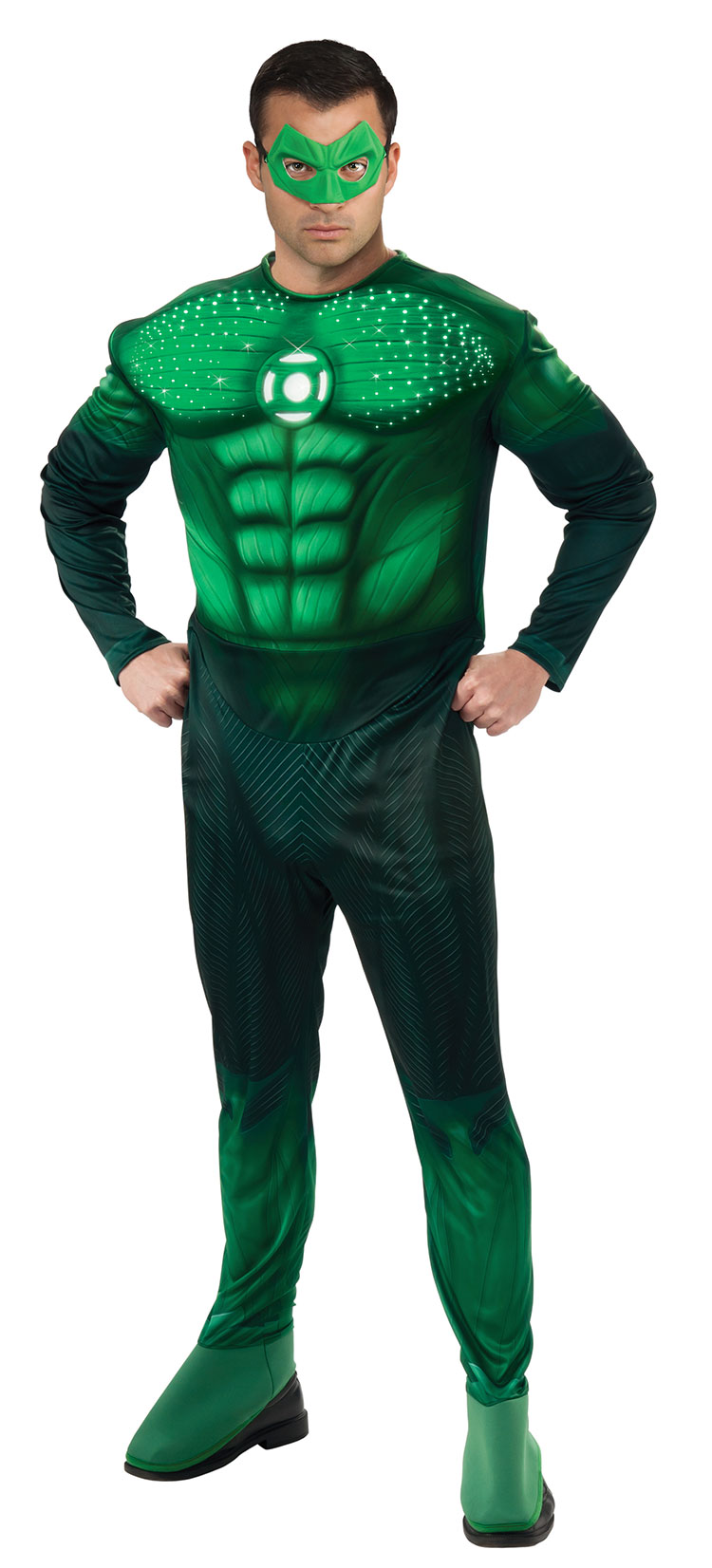 Deluxe Light-up Muscle Chest Hal Jordan Costume