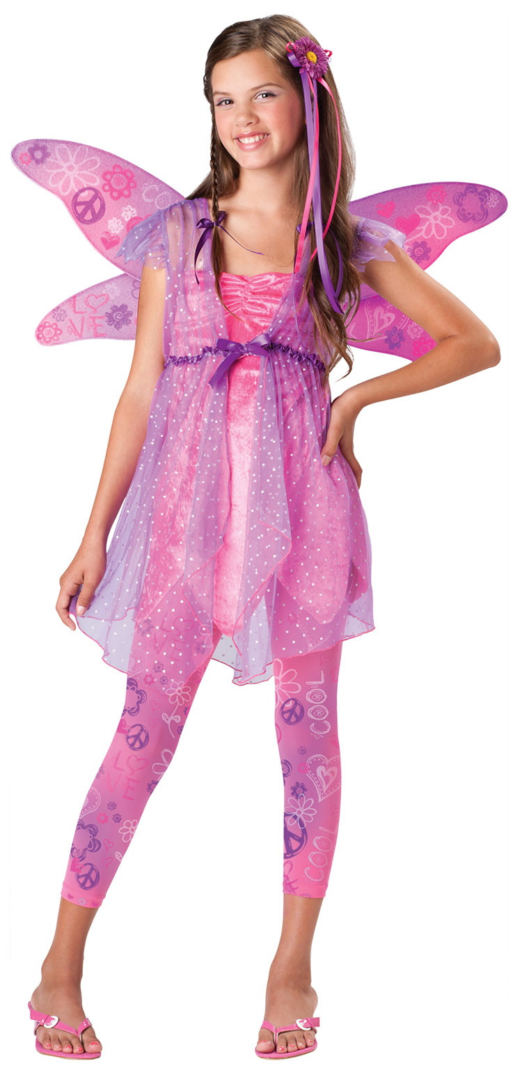 Tween Flower Power Fairy Costume  sc 1 st  Costumes Life & Tween Flower Power Fairy Costume : Costumes Life